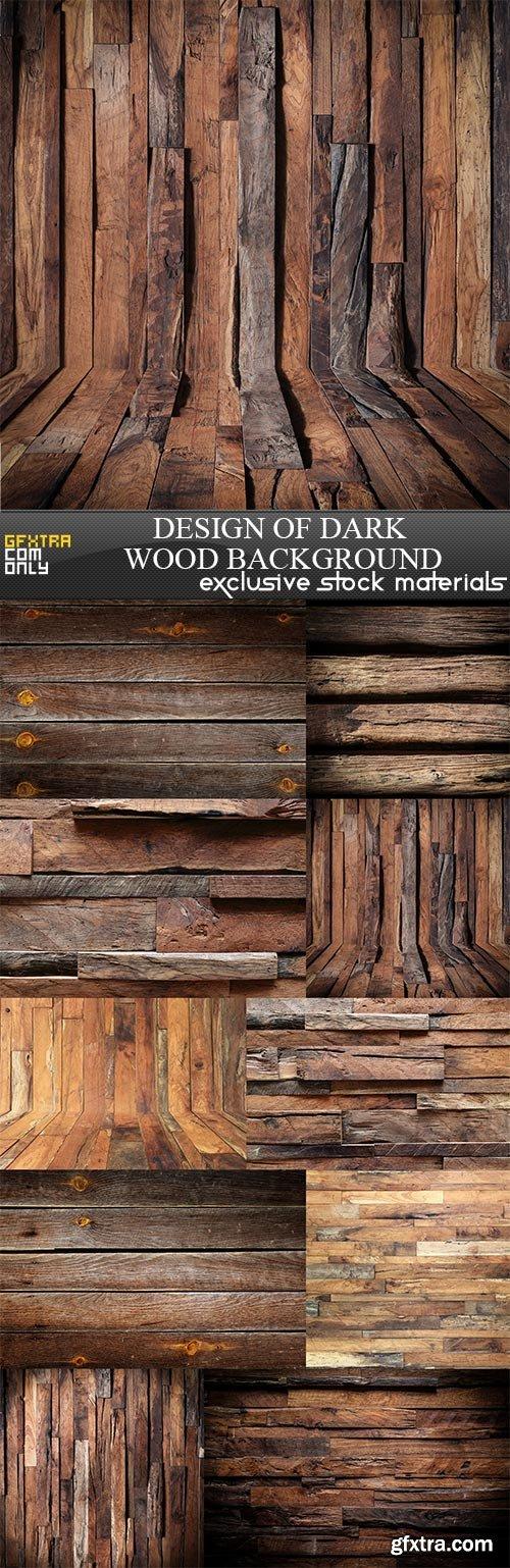 Design of dark wood background, 10 x UHQ JPEG