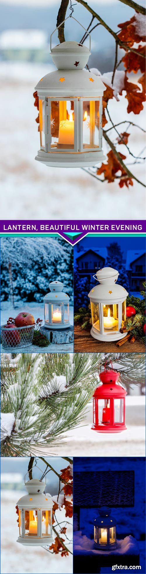 lantern, beautiful winter evening 5X JPEG