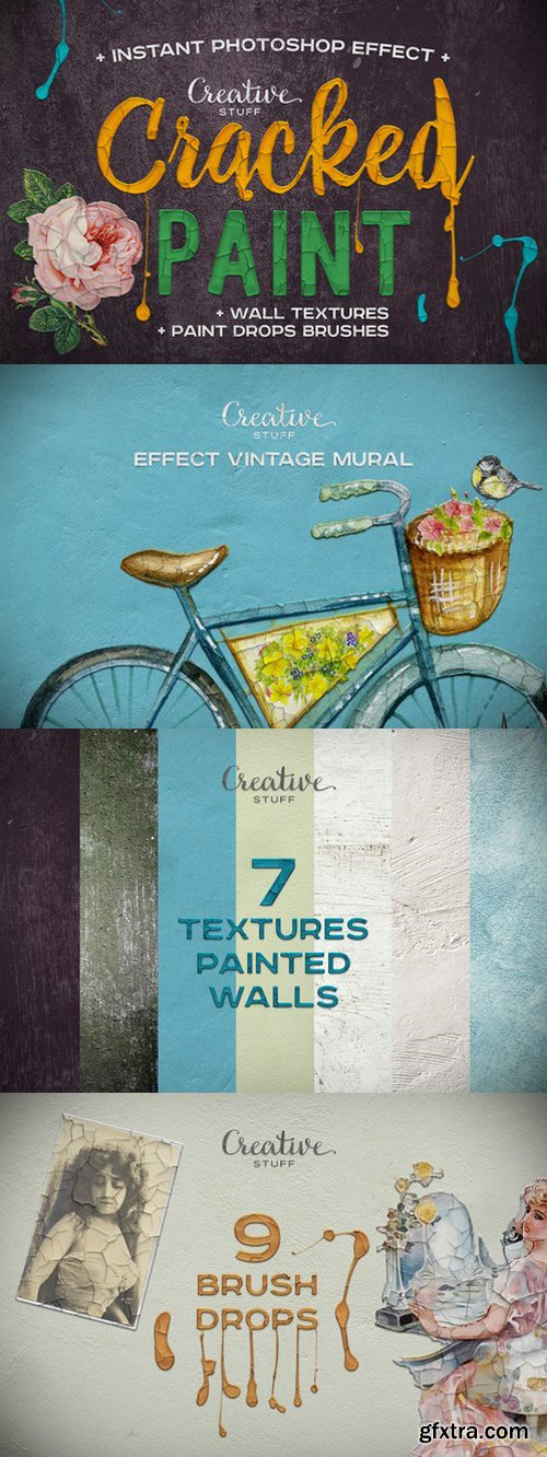 CM - Vintage Cracked Paint Effect 925095