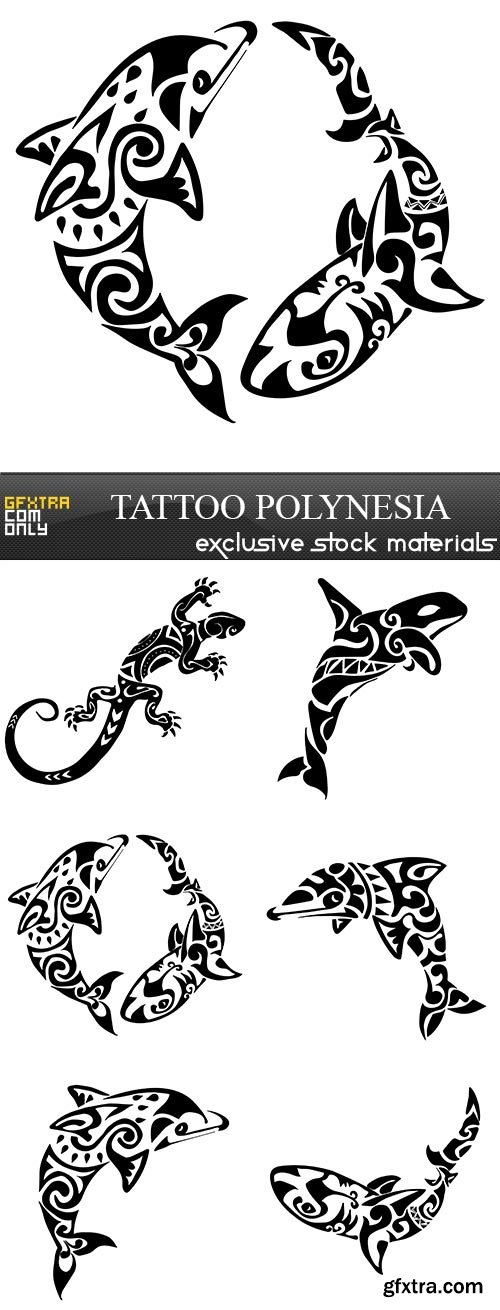 Tattoo Polynesia, 6 x EPS