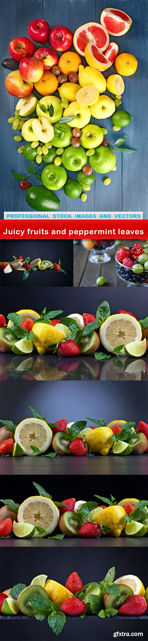 Juicy fruits and peppermint leaves - 7 UHQ JPEG