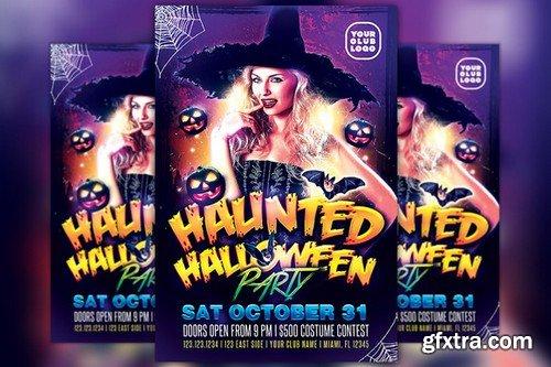 CM - Haunted Halloween Costume Flyer 869752