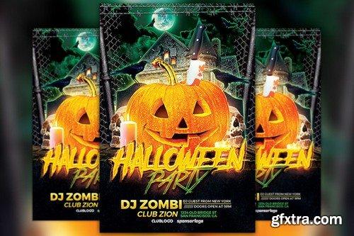 CM - Halloween Party Flyer Template 922158