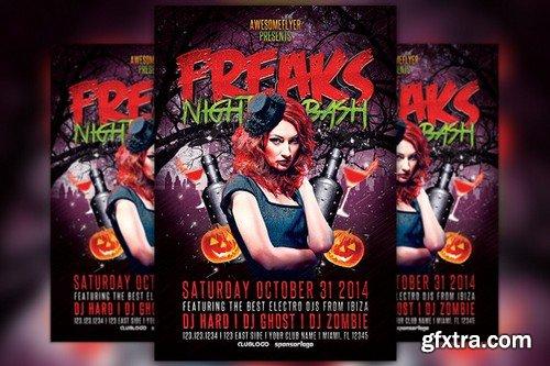 CM - Freaks Night Halloween Party Flyer 89880