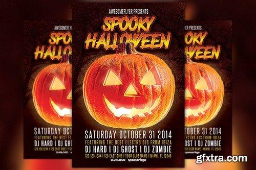 CM - Spooky Halloween Party Flyer 89887