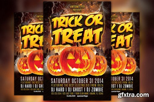CM - Trick or Treat Halloween Party Flyer 89893