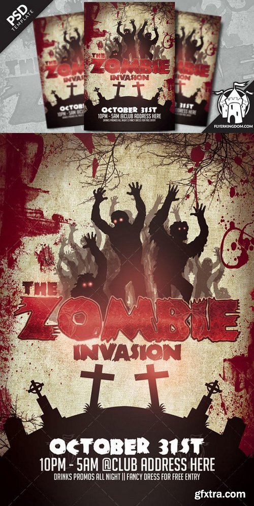 CM - The Zombie Invasion Flyer Template 919624