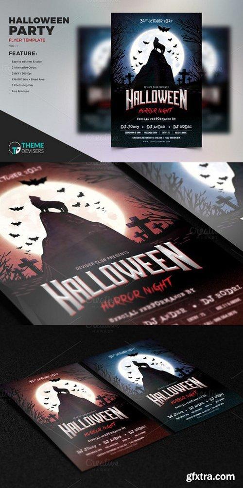 CM - Halloween Party Flyer Template 924015
