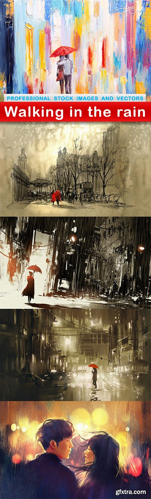 Walking in the rain - 5 UHQ JPEG