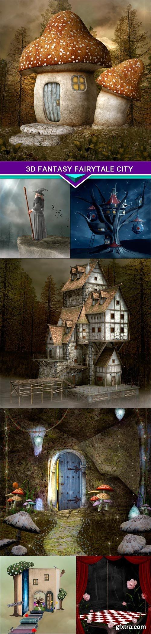 3d fantasy fairytale city 7X JPEG