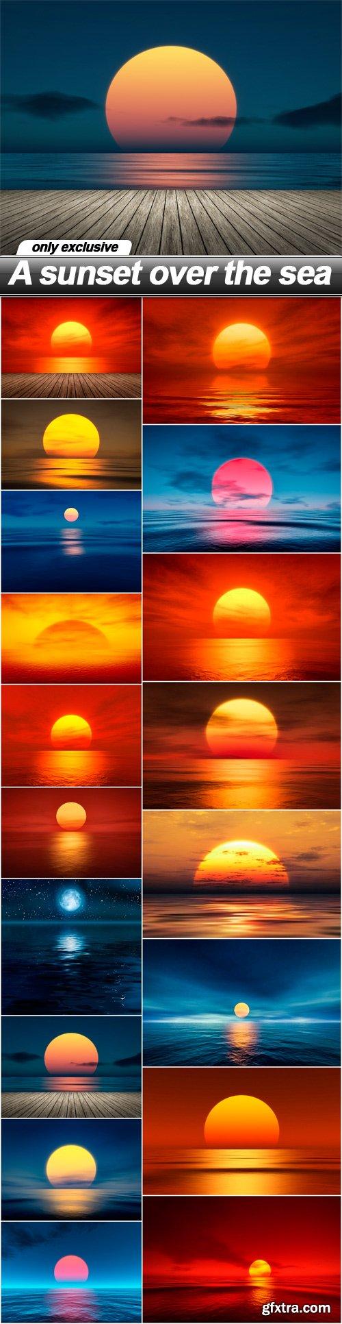 A sunset over the sea - 18 UHQ JPEG