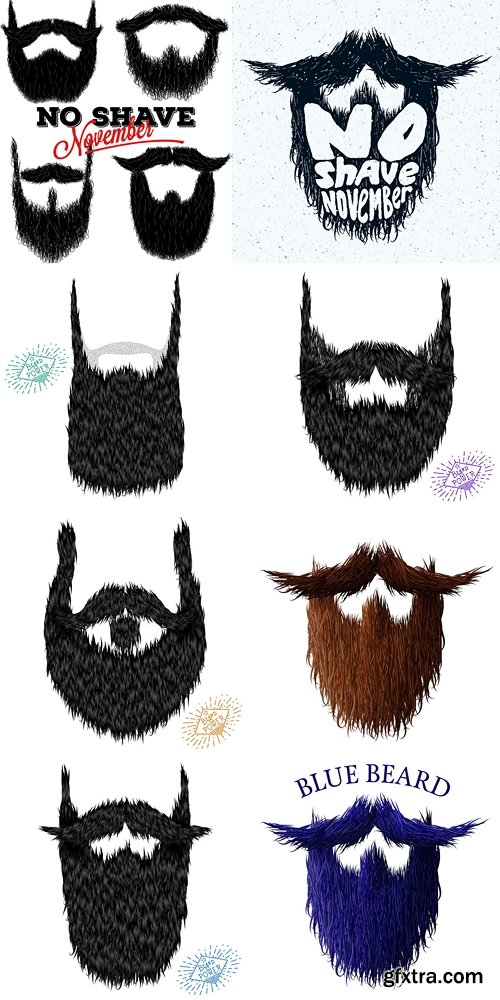 Beard classic jealous icon with detailed hair drawing