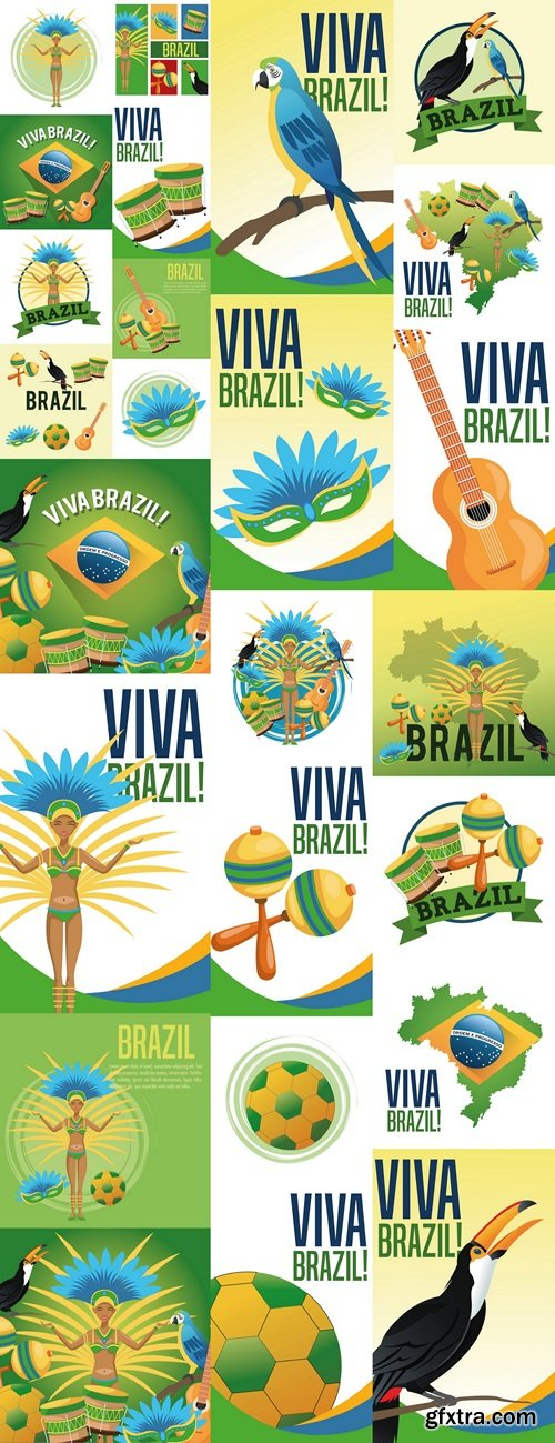 Brazil culture america and tourism theme