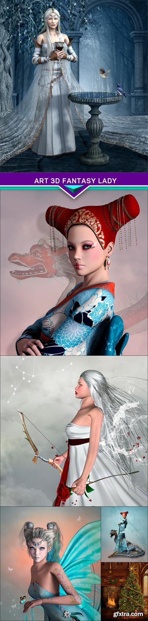 Art 3d fantasy lady 6X JPEG