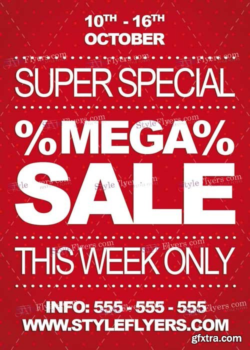 Mega Sale V5 PSD Flyer Template