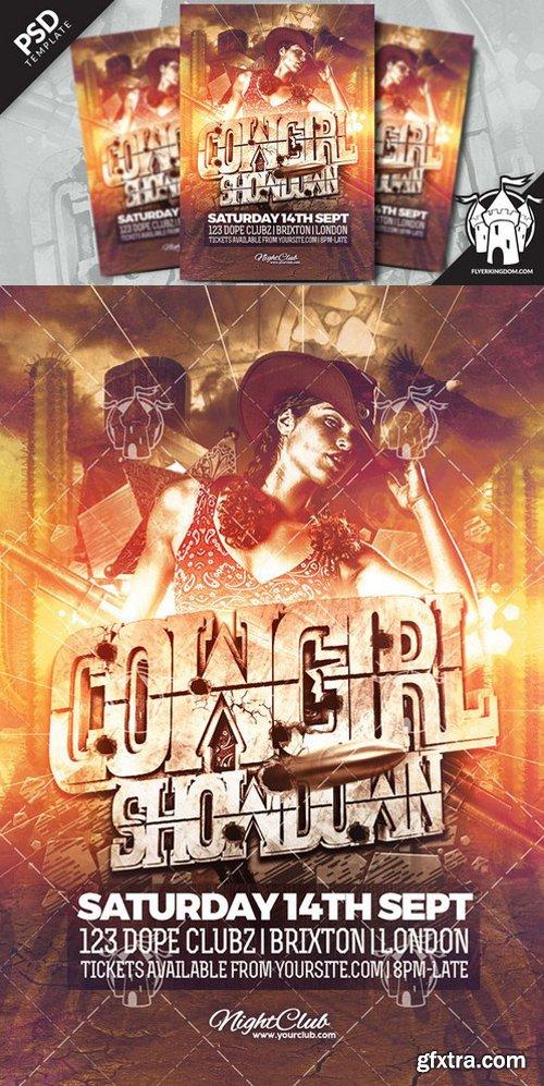 CM - Cowgirl Showdown Flyer Template 919558