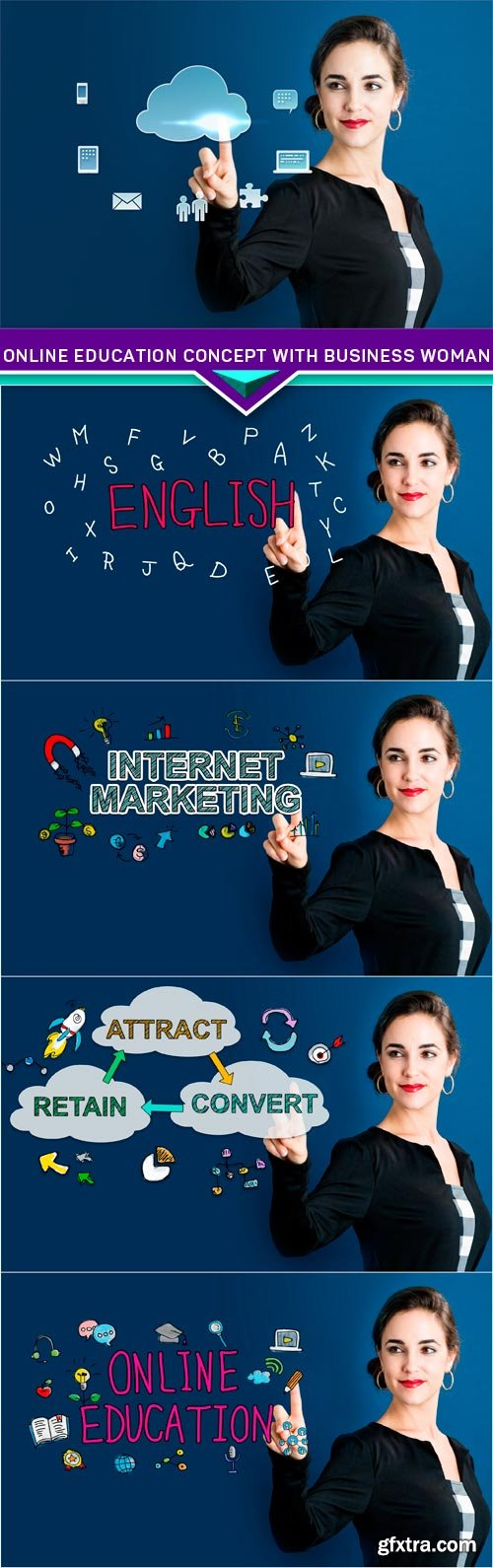 Online Education concept with business woman 5X JPEG