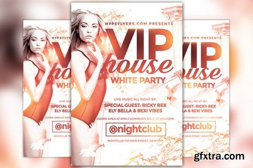 CM - White Party Flyer Template 805457