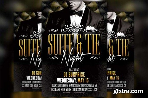 CM - Suite and Tie Party Flyer Template 249801