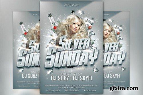 CM - Silver Sunday Club Flyer Template 169381