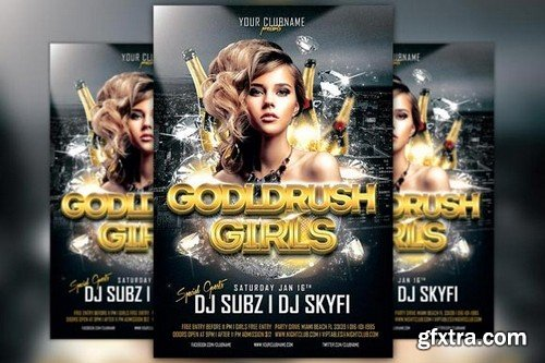 CM - Gold Rush Girls Flyer Template 151931