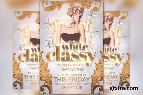 CM - Classy Party Flyer Template 842841