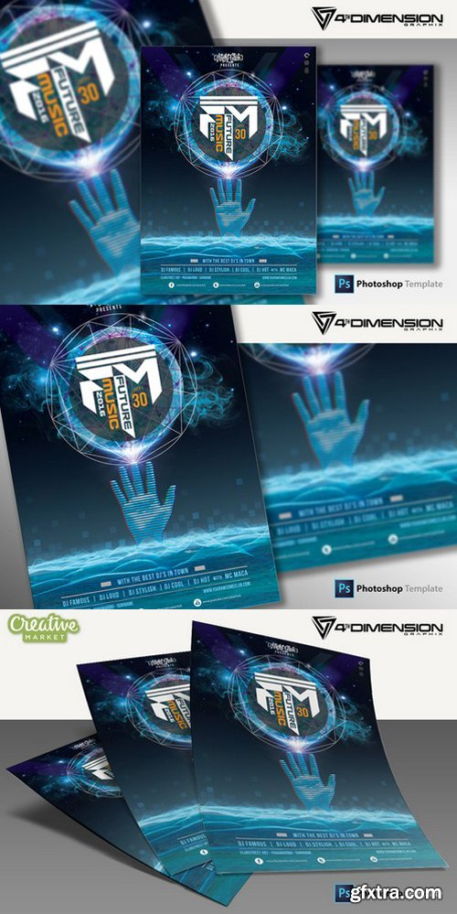 CM - Future Music A4 Flyer Template 925007