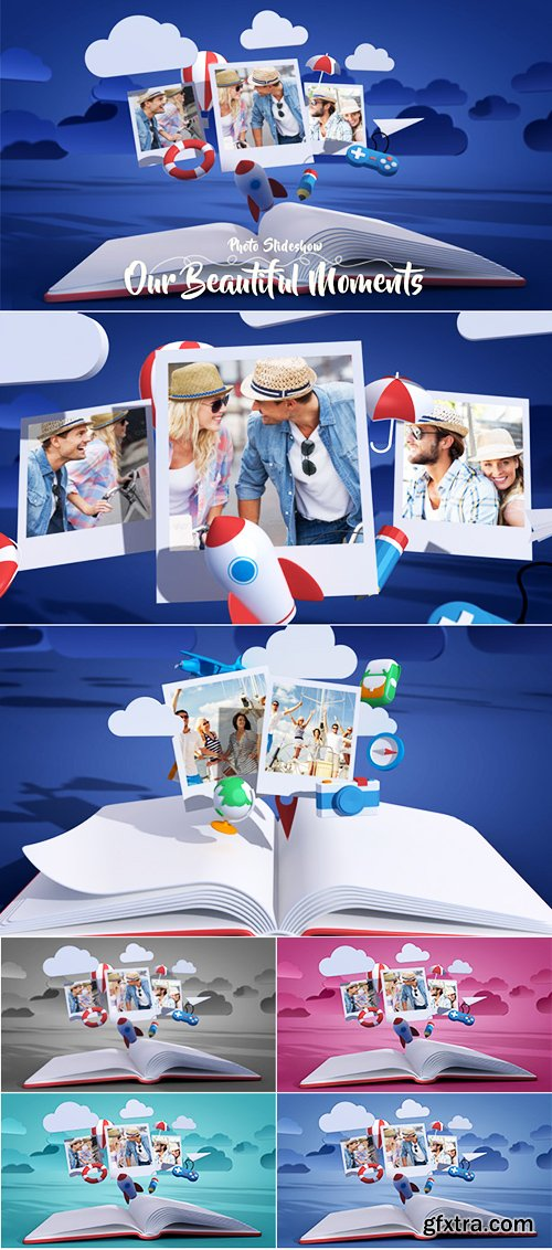 Videohive Photo Gallery Slideshow Our Beautiful Moments 17673453
