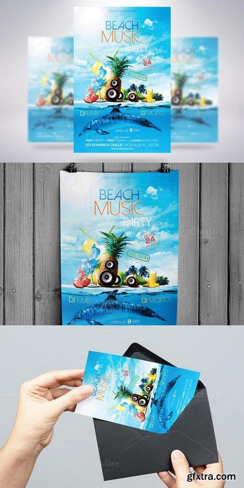 CM - Beach Music Party Flyer 938014