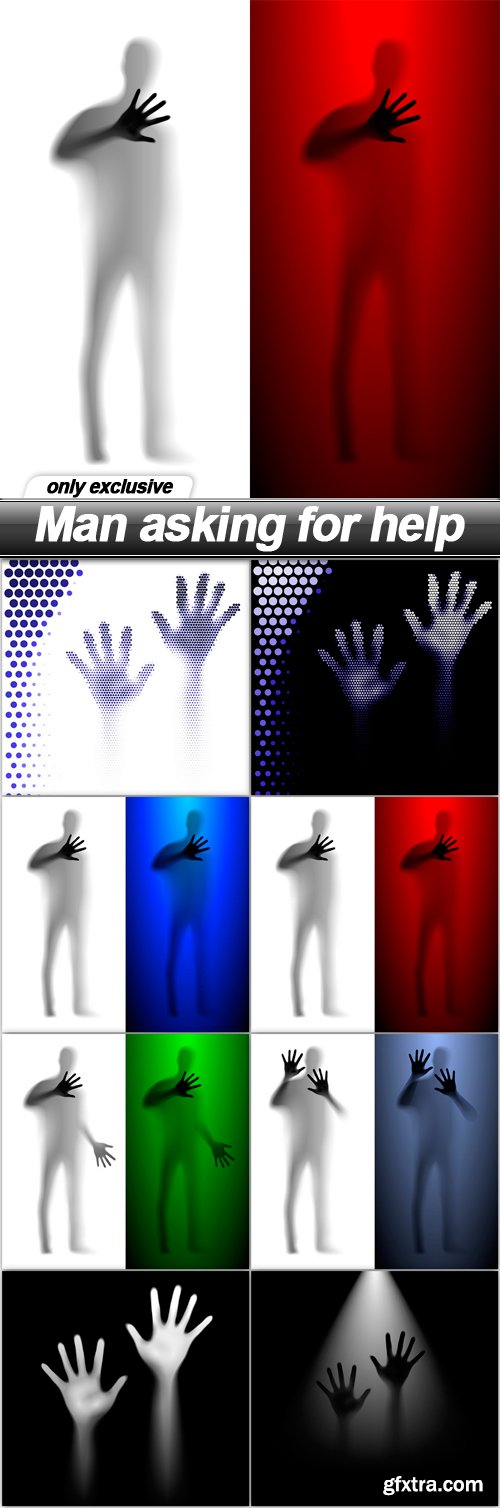 Man asking for help - 8 EPS