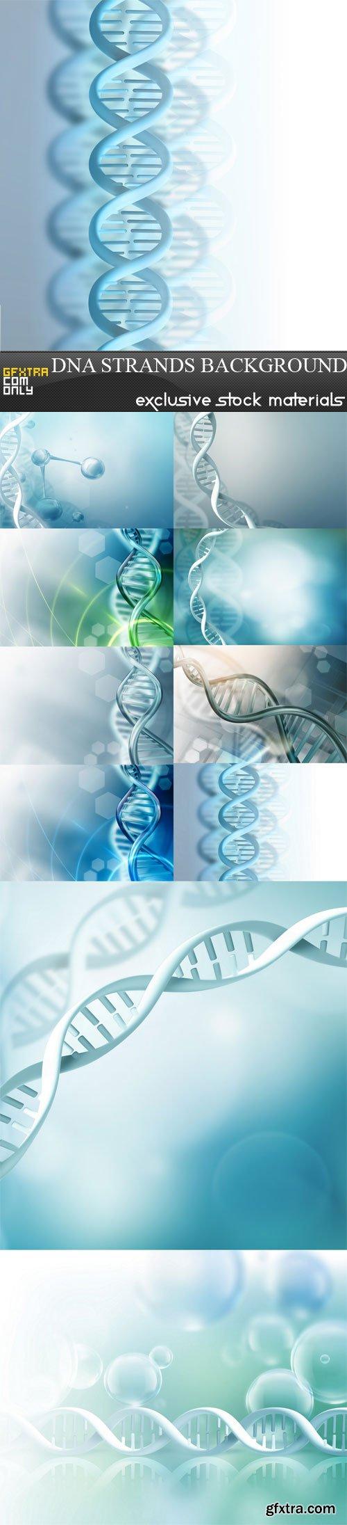 DNA strands background, 10 UHQ JPEG