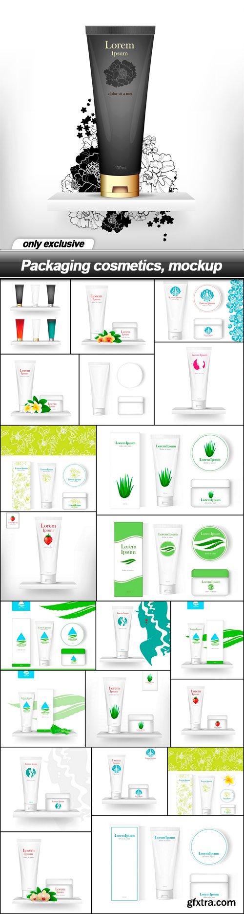 Packaging cosmetics, mockup - 22 EPS