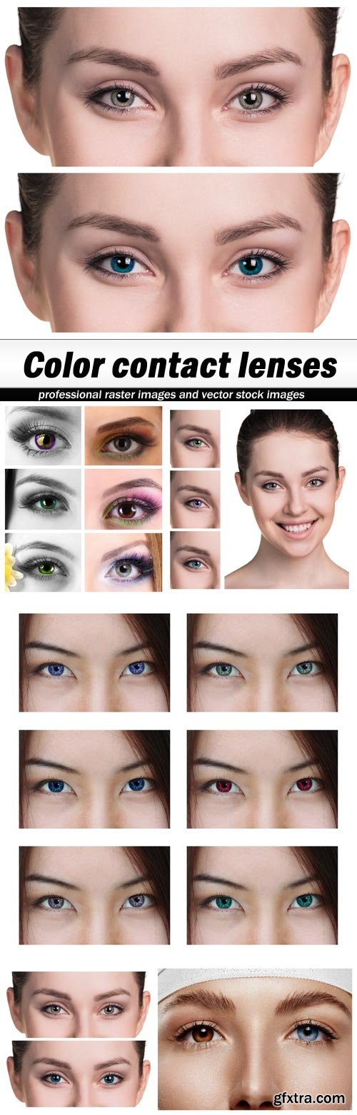 Color contact lenses - 5 UHQ JPEG