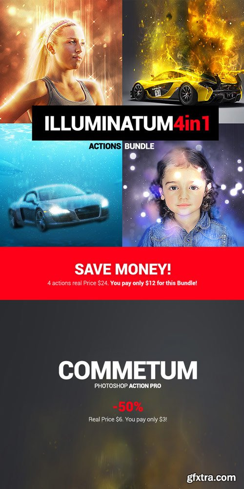 GraphicRiver - Illuminatum - 4in1 Photoshop Actions Bundle - 18134079