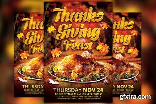 CM - Thanksgiving Feast Flyer Template 949244