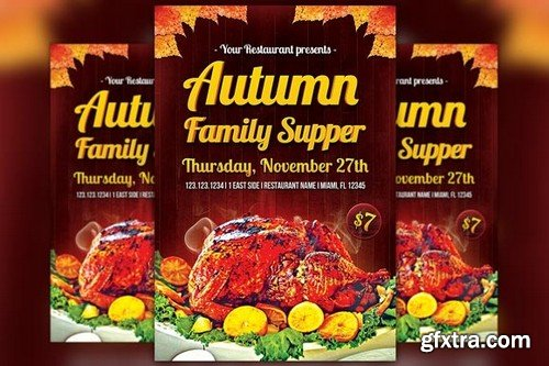 CM - Autumn Family Supper Flyer Template 307874