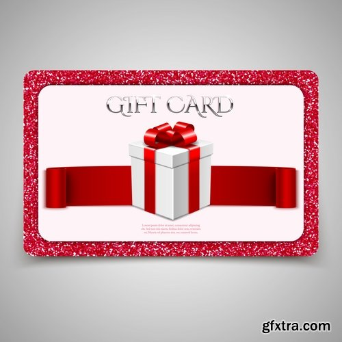Collection of ribbon gift card tape surprise birthday celebration day 25 EPS
