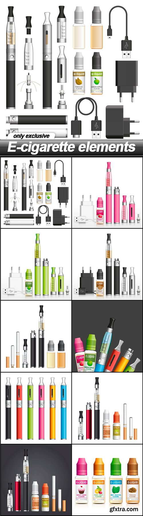 E-cigarette elements - 10 EPS