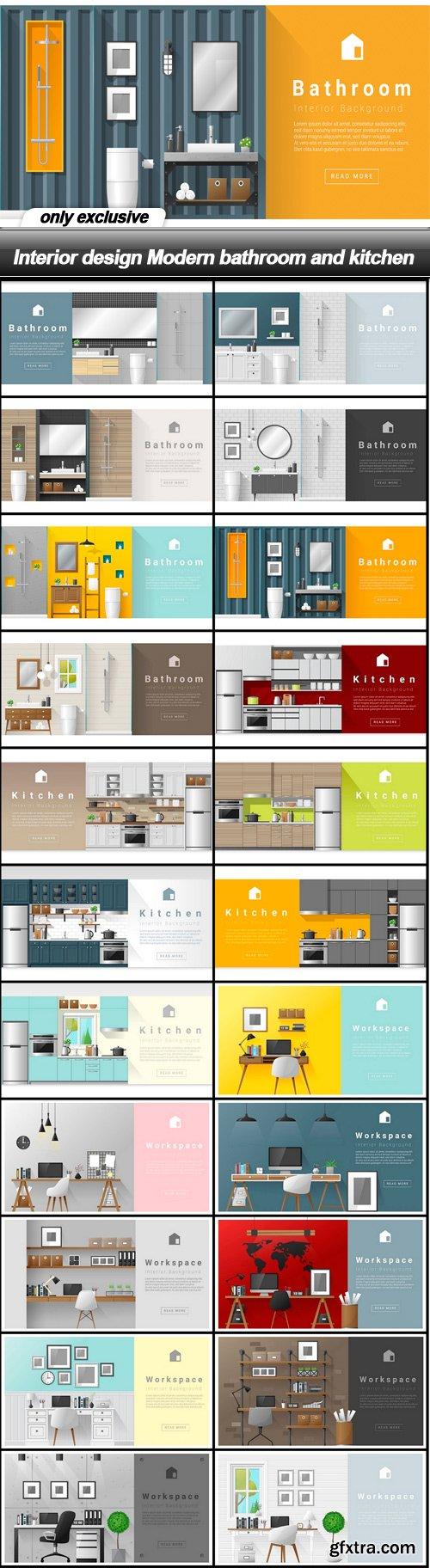 Interior design Modern bathroom and kitchen - 22 EPS