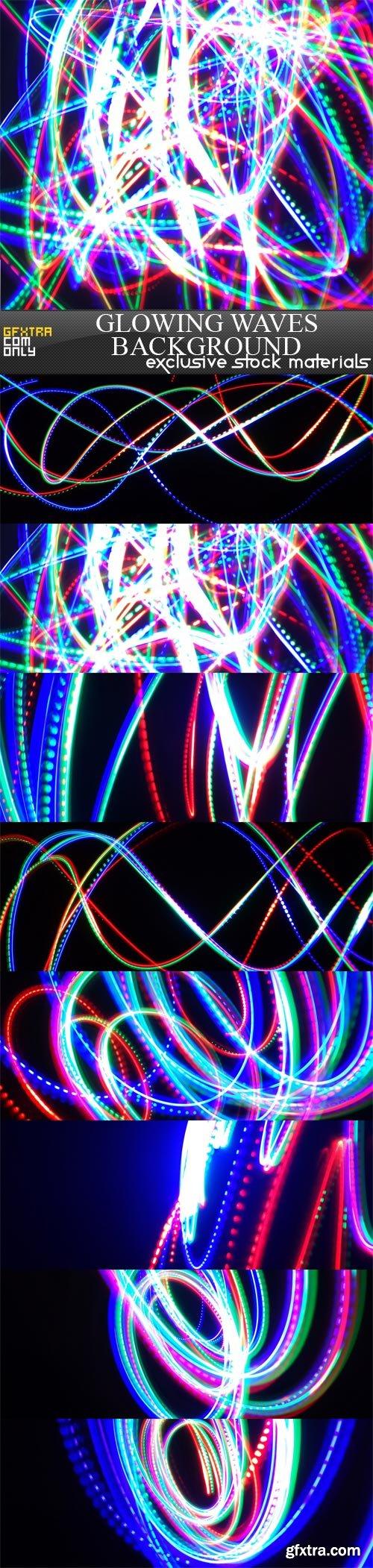 Glowing waves background, 8 UHQ JPEG