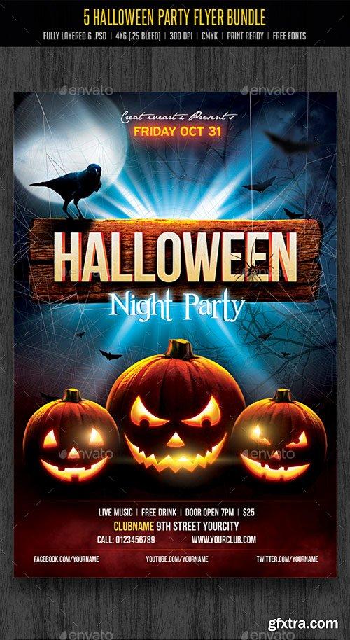 GraphicRiver - Halloween Party Flyer Bundle - 18098896