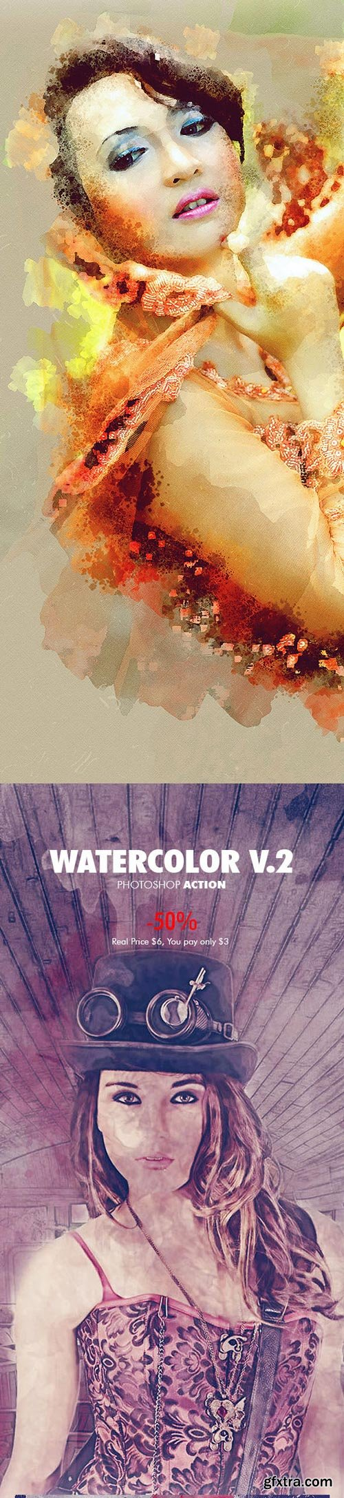 GraphicRiver - Watercolor - 4in1 Photoshop Actions Bundle V.1 - 18180095