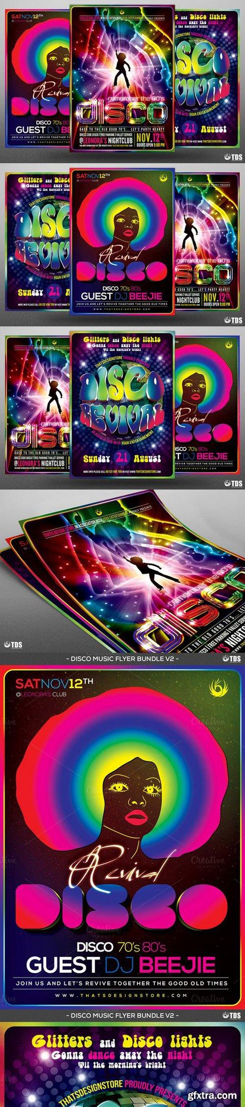 CM - Disco Music Flyer Bundle V2 957559