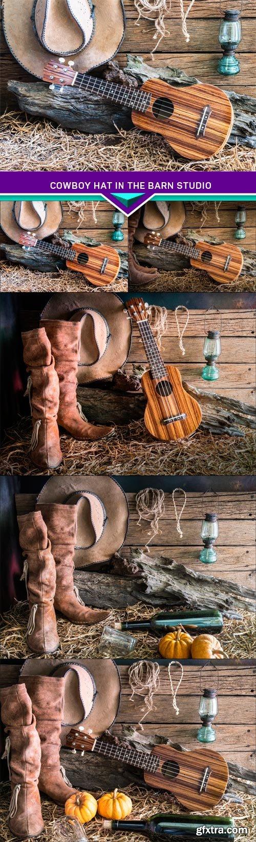 Cowboy hat in the barn studio 5X JPEG