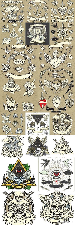 Panther Wild Tattoo Set