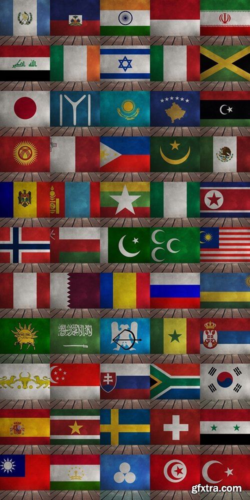 World flag background