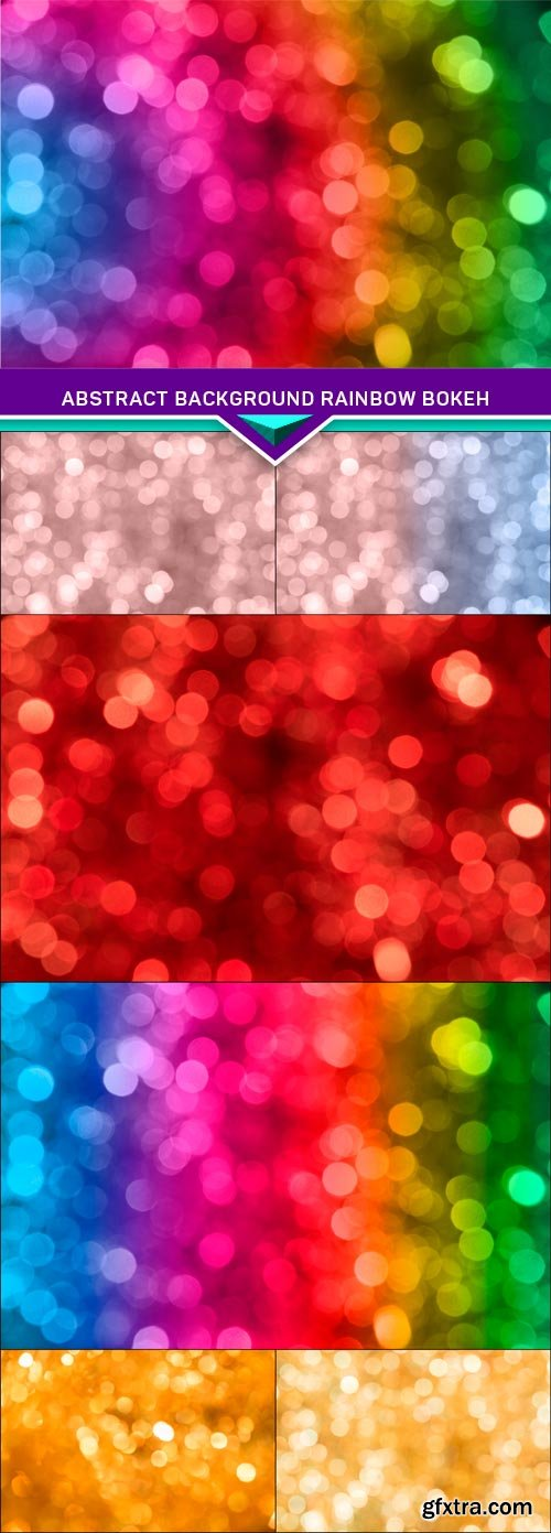 Abstract background rainbow bokeh 7X JPEG