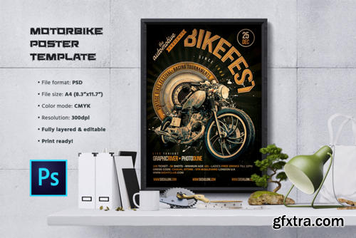 CM - Motorcycle Flyer / Poster Template 960259
