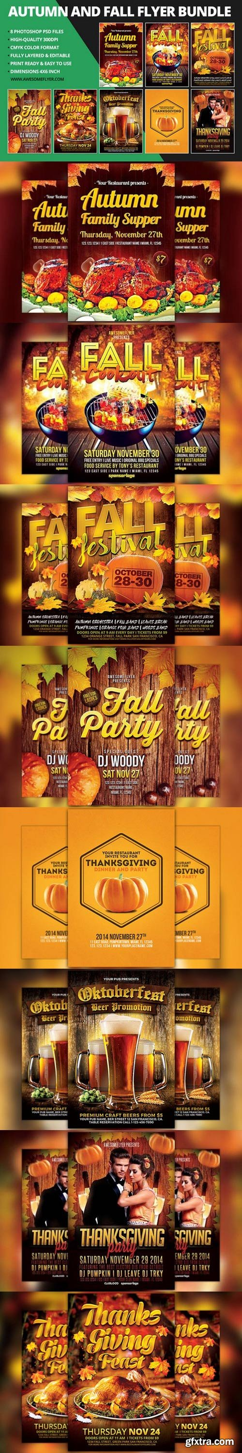 CM - Autumn & Fall Flyer Template Bundle 949413