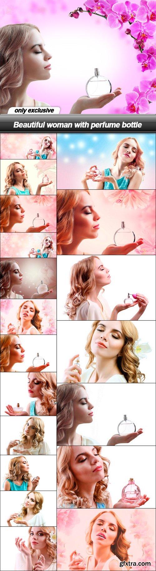 Beautiful woman with perfume bottle - 20 UHQ JPEG